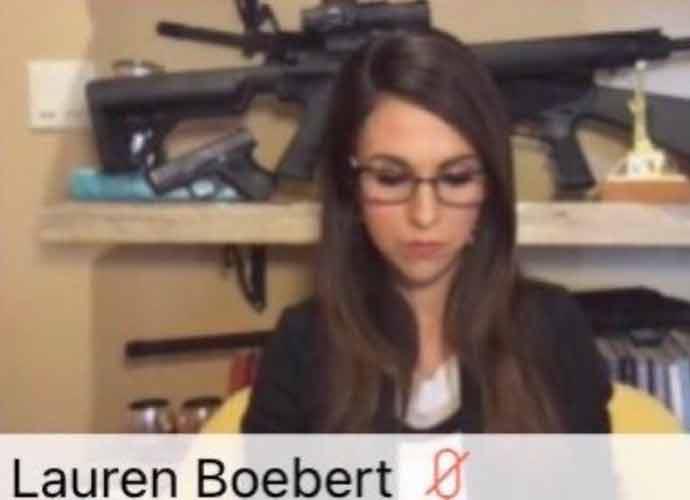 GOP Rep. Lauren Boebert Slammed For Assault Weapons In Zoom Backdrop