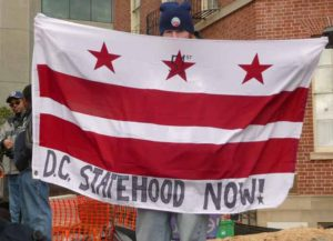 DC statehood now flag at Inauguration in 2013 (Image: Wikimedia)