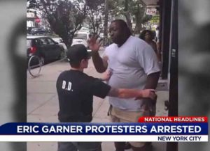 Eric Garner confronted by police before his death (Image: YouTube)