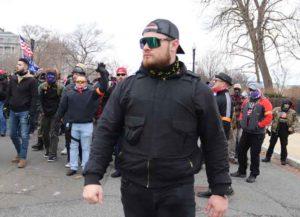 Proud Boys' leader Ethan Nordean at Capitol Riots (Image: Elvert Barnes/Wikimedia)