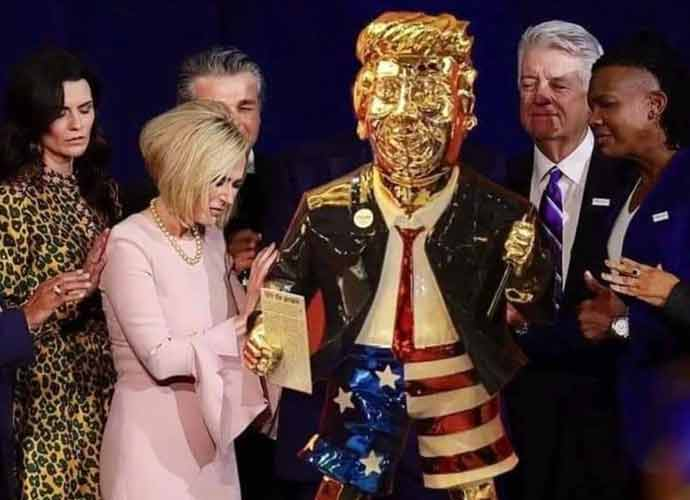 Six-Foot Gold Statue Of Trump Was The Star Of CPAC