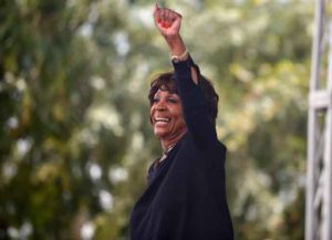 WEST HOLLYWOOD, CA - JUNE 11: U.S. Representative for California's 43rd congressional district Maxine Waters attends the LA Pride ResistMarch on June 11, 2017 in West Hollywood, California. (Photo by Chelsea Guglielmino/Getty Images)