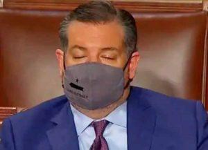 Sen. Ted Cruz (R-Texas) sleeps during Biden's address to Congress (Image: YouTube)