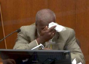 Derek Chauvin trial witness Charles McMillian breaks down on the stand (Image: YouTube)