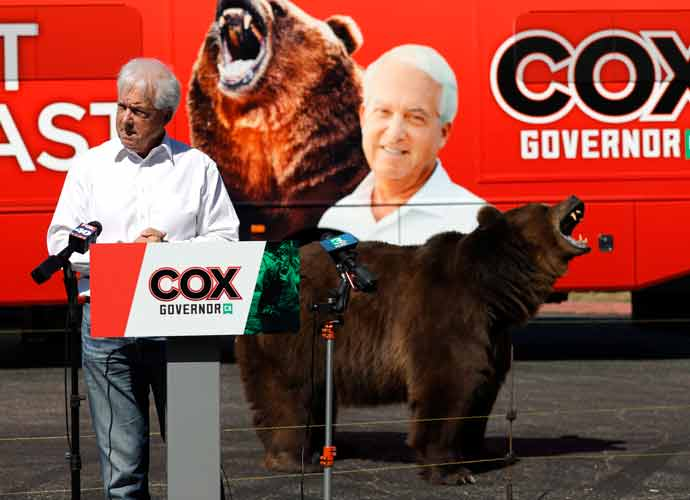 California GOP Gubernatorial Candidate John Cox Brings Bear To Press Events