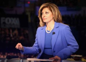 NORTH CHARLESTON, SC - JANUARY 14: Maria Bartiromo, moderator of the Fox Business Network Republican presidential debate arrives on stage at the North Charleston Coliseum and Performing Arts Center on January 14, 2016 in North Charleston, South Carolina. The sixth Republican debate is held in two parts, one main debate for the top seven candidates, and another for three other candidates lower in the current polls. (Photo by Andrew Burton/Getty Images)