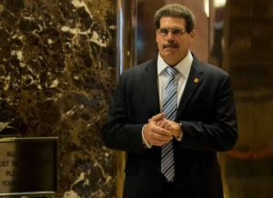 NEW YORK, NY - JANUARY 12: Matthew Calamari, an executive vice president with the Trump Organization, stands in the lobby at Trump Tower, January 12, 2017 in New York City. On Wednesday morning, Trump and his transition team are continuing the process of filling cabinet and other high level positions for the new administration. (Photo by Drew Angerer/Getty Images)