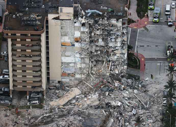 Part Of Miami Building Collapses, Killing At Least 1 With 99 Unaccounted For