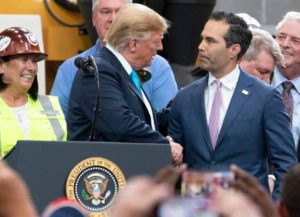 Trump meets with George P. Bush in April 2019 (Image: Wikimedia)