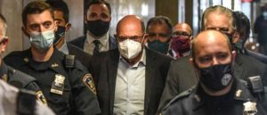AllenWeisselberg, chief financial officer of Trump Organization Inc., center, walks towards a courtroom at criminal court in New York, U.S., on Thursday, July 1, 2021. The Trump Organization's longtime chief financial officer has surrendered to authorities in New York, facing tax-related charges in the most direct attack on Donald Trump and his business to emerge from Manhattan District Attorney Cyrus Vance Jr.'s years-long criminal probe. Photographer: Stephanie Keith/Bloomberg via Getty Images