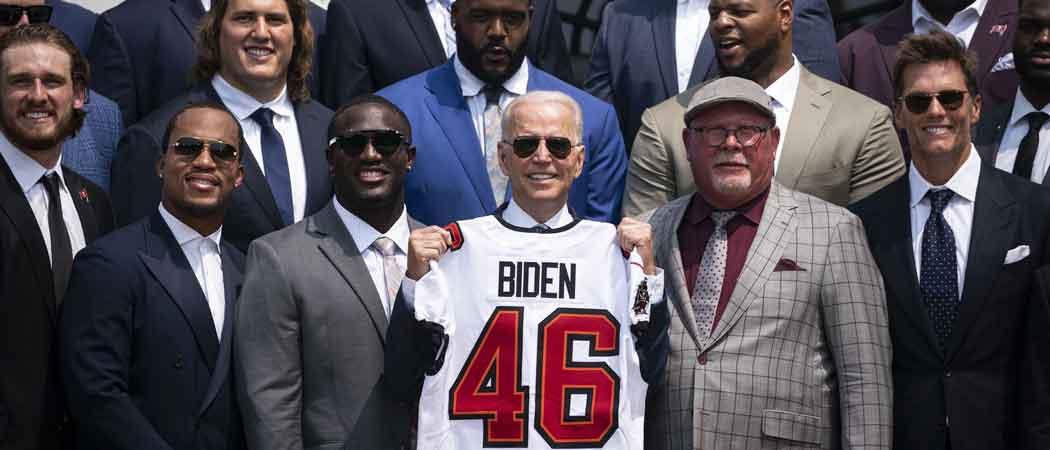 Biden Hosts Super Bowl Champion Buccaneers & Tom Brady At White House