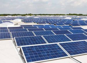 Rooftop solar panels (Image: Getty)